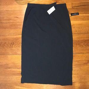 Black Express Pencil Skirt